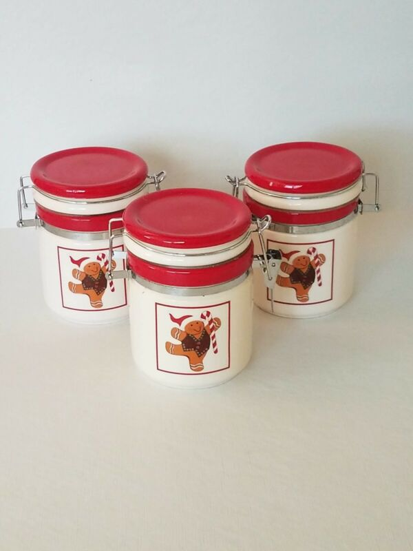 Gingerbread Man Cannisters Trio