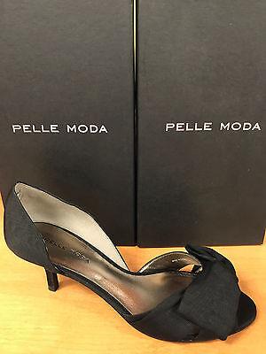 Pelle Moda Alera-SL - Black Moire Silk - Moda Silk Heels