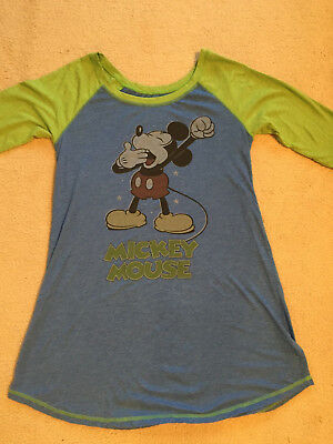 Mickey Mouse Night Shirt XL Disney Parks Authentic Blue and Green