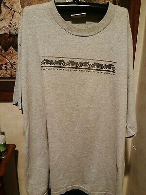 VTG Barber Motorcycles Museum T-shirt sz. Large. Indian, Harley Davidson