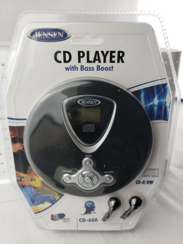 Jensen CD 60A  Player Personal Portable Compact Disc With Bass Boost