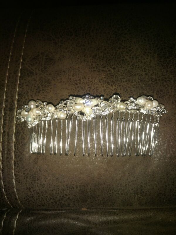 Beautiful Davids Bridal Headpiece Collection pearls and rhinestones Hair comb
