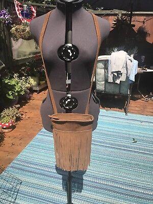 margot leather crossbody Fringe