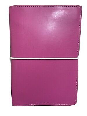 Filofax Domino Soft Organizer Hot Pink Leather Suede Personal Size Exc