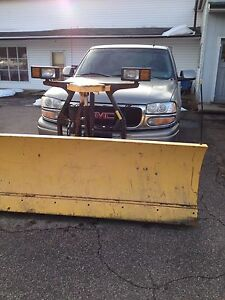 2001 GMC Yard Truck with 7.5 Fisher Plow