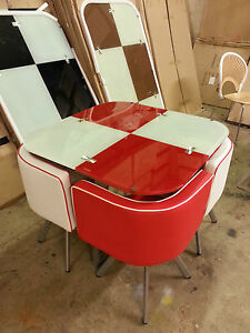 Red Dining Table And Chairs EBay
