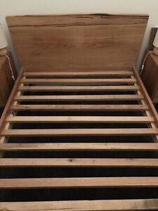 Custom Designed Messmate Timber Queen Bed