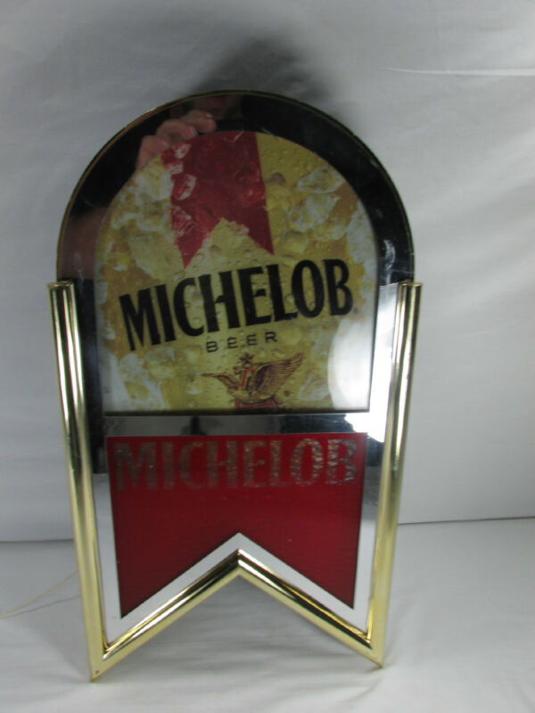 VINTAGE MICHELOB BEER LIGHTED RARE SIGN #317-629 by EVERBRIGHT 20.5X10 1993 USA
