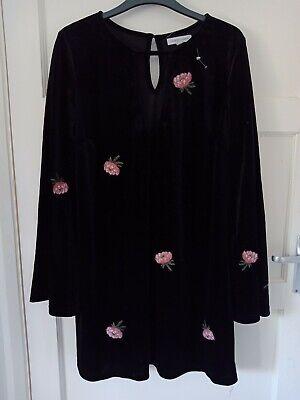 Honey Punch Black Velvet Dress Medium