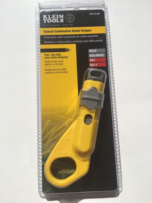 Klein Tools VDV110-095 Coax Combination Radial Stripper [ NEW }