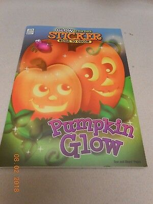New Glow in the Dark Halloween sticker pumpkin book to color tare and share - Halloween Coloring Pages Pumpkin