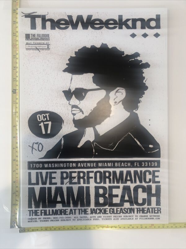 The Weeknd Limited Edition Event Fillmore Miami Beach  Poster