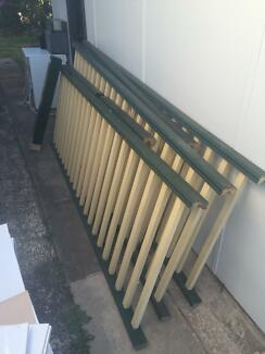 Balustrade timber fencing & gate