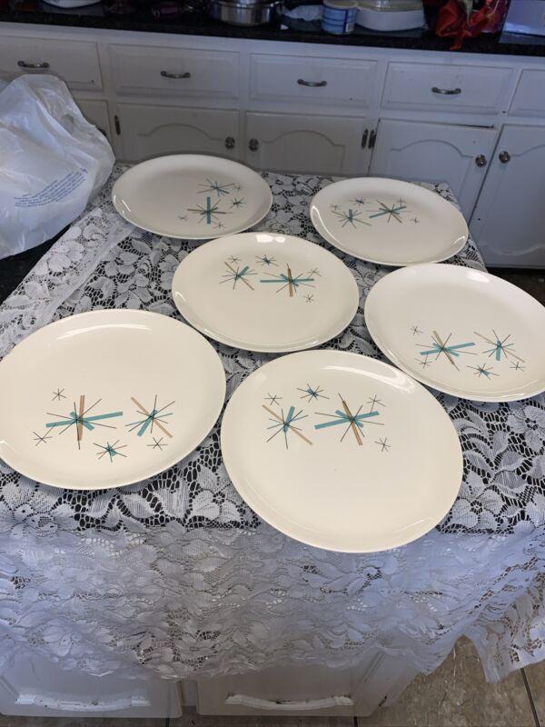 Set Of 6 Salem North Star Dinner Plates