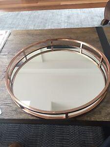 Rose gold copper mirror serving display tray Thornbury Darebin Area Preview