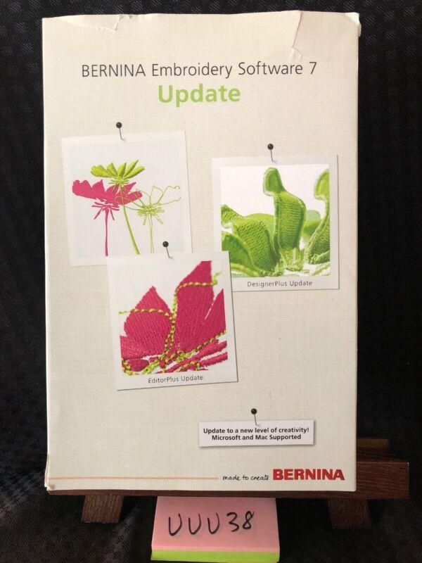 Bernina DesignerPlus +EditorPlus Embroidery Software Version 7 UPDATE! No Dongle