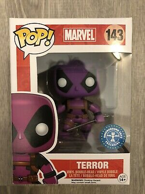 Funko Pop! Marvel Terror Purple Deadpool #143 Underground Toys Hot Topic Excl!