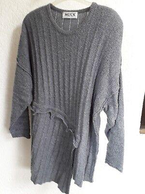 Moonshine Fashion Lagenlook Leinen Kleid Übergröße 46 48 50 52 Neu Raffung dgrau