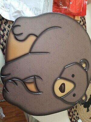 DECORATIVE BEAR STOOL NEW ()