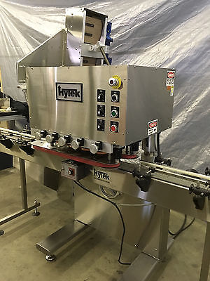 New Inline 8 Spindle Capper With Cap Elevator Model Htk-200a