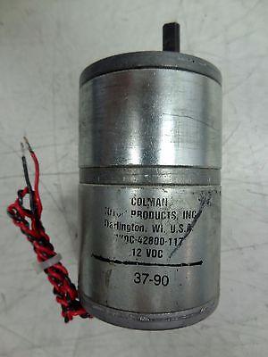 Colman Motor Products Cyqc-42800-117 Servo Gear Motor 12vdc Free Sh
