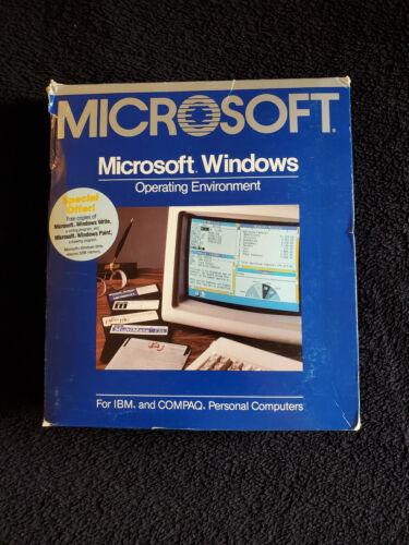 Microsoft Windows 1.0 Vintage Software 050-050-004 retail box [RARE]