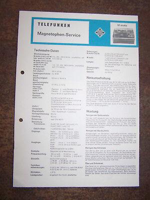 Telefunken Service Manual Für M 501 Tv, Video & Audio