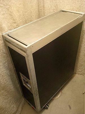 Black Ash Aircraft Galley Catering Service Trolley Airline Full Cart + Drawers