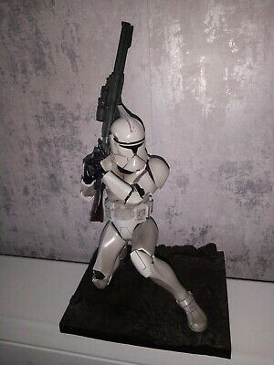 "Star Wars 12"" Action Figure Clone Trooper Kotobukiya 2002 Rare Hot toy sideshow"