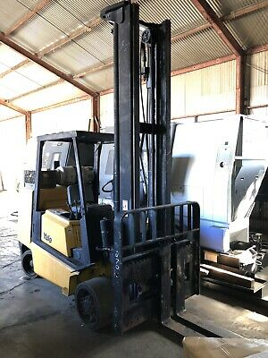 Yale 11500lb Forklift Year 2005 High Mast Hard Tires Nice Condition Runs Good