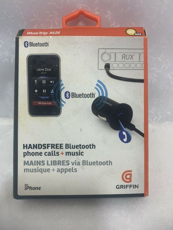 Griffin BlueTrip AUX Bluetooth Hands Free Calling Wireless Music Streaming