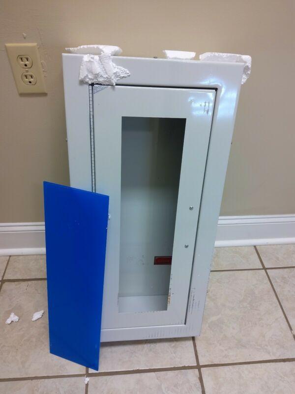 WHITE FIRE EXTINGUISHER BOX (NEW IN BOX)