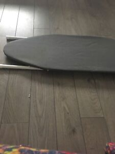 Tabletop iron board with iron rest
