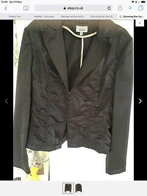 Corset Style Hook & Eye Ruched Brown Satin Jacket Goth Victoriana Steampunk