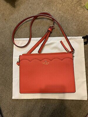 New Genuine Kate Spade New York Red Leather Small Adjustable Xbody Bag
