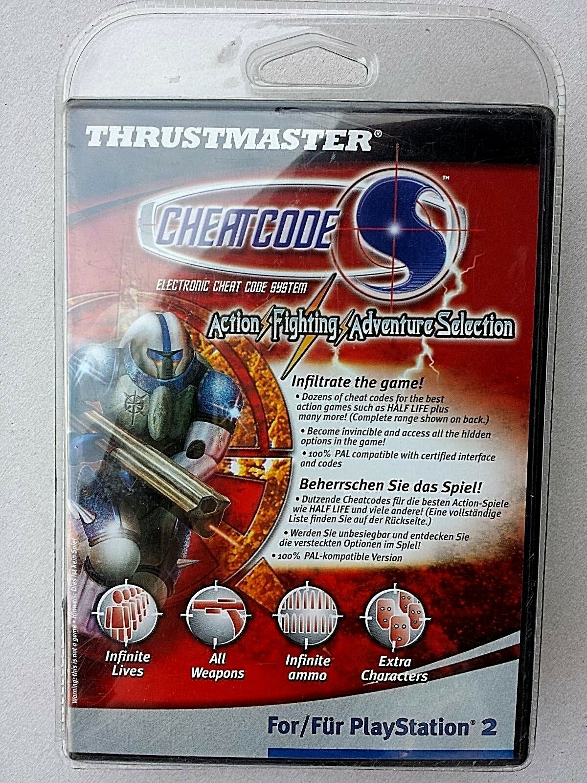 Thrustmaster, Cheatcode, Action Fighting Adventure Selection für Playstation2