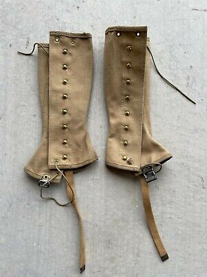 Spats, Gaiters, Puttees – Vintage Shoes Covers WW 2 Original US Army Boot Spats / Gaiters. $28.00 AT vintagedancer.com