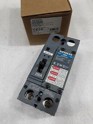 2 POLE 200 AMP 240 VOLT QR2 Circuit Breaker Siemens QR22B200