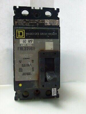 Nice Square D Fal22060 3-pole Circuit Breaker 60 Amp 240 Vac