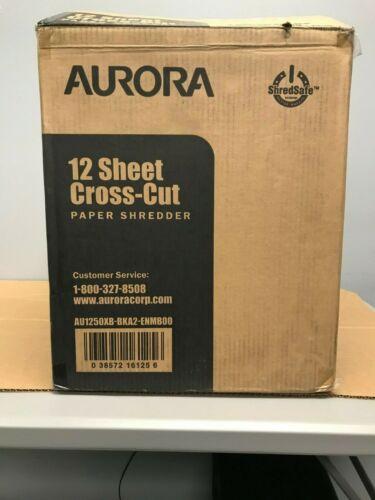 AURORA 12-SHEET CROSS-CUT PAPER SHREDDER SHREDSAFE