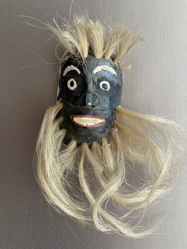 HAND CARVED MINIATURE PASCOLA MASK
