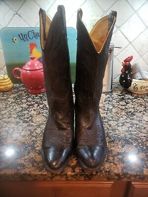ACME Vintage Men's Super Soft Black USA Made Western Cowboy Boots Size 9.5D