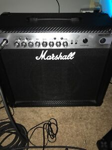 marshall mg30cfx guitar amplifier and pedals