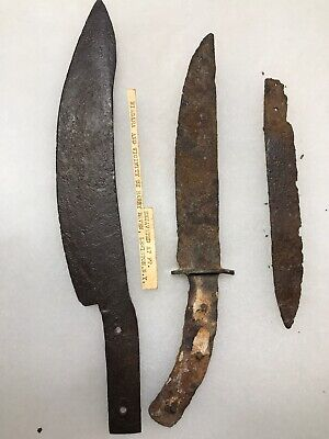 MLC S6511 3 Old Revolutionary War French & Indian War Knives Fort Niagara NY