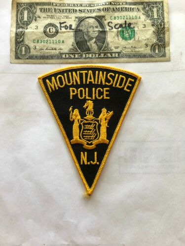 Mountainside New Jersey Police Patch un-sewn Great Shape