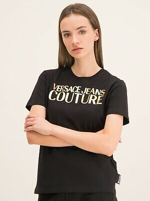 Versace Jeans Couture Gold Logo Print Womans T-Shirt M L XL B2HUA7GT