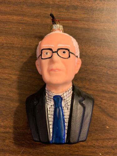 Bernie Sanders Christmas Ornament Cody Foster Political Election. Blown Glass