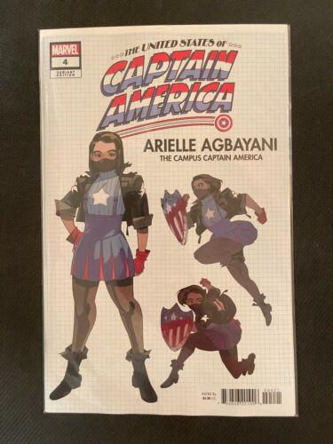 United States of Captain America #4 Design Variant (2021) NM Marvel Comics