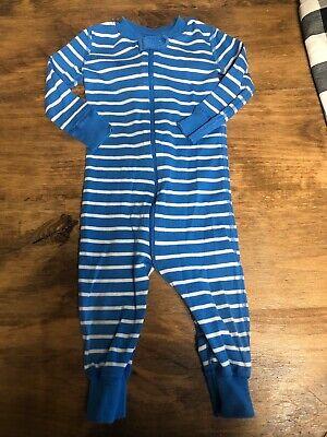Hanna Andersson Infant Baby Sleeper One Piece Pajamas Blue Stripe 75 12-18 Mo. Infant Sleeper Pajamas