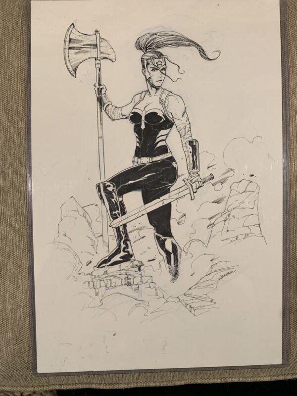 Artemis Bana-Mighdall 2019 Original Art by Chris Campana DC Comics